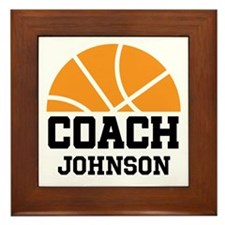 Personalized Basketball Coach Gift Framed Tile