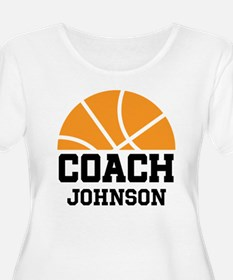Personalized Basketball Coach Gift Plus Size T-Shi