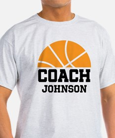 Personalized Basketball Coach Gift T-Shirt