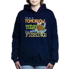 Today I'm Going Fishing Hooded Sweatshirt