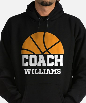 Basketball Personalized Coach Name Hoodie