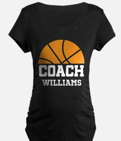 Basketball Personalized Coach Name Maternity T-Shi