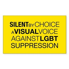 Silent By Choice Rectangle Decal
