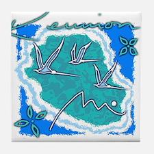 reunion island Tile Coaster