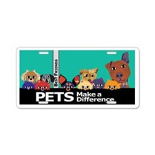 Colorful Pets Aluminum License Plate