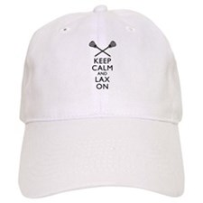 Keep Calm And Lax On Baseball Cap