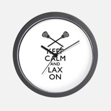 Keep Calm And Lax On Wall Clock