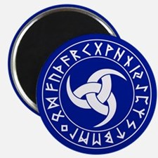 Button2¼ Wht on Blu Magnets