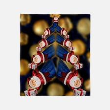 Santa Super  Christmas tree Throw Blanket