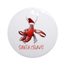 Santa Craws - Crawdad Christmas Ornament (Round)