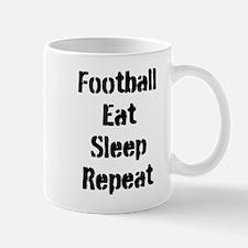 Football Eat Sleep Repeat Mugs