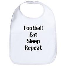 Football Eat Sleep Repeat Bib