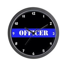 Police Officer Thin Blue Line Wall Clock