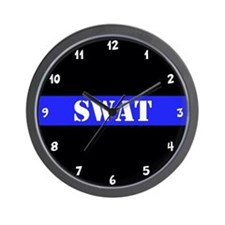 Police SWAT Thin Blue Line Wall Clock