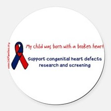 Unique Congenital heart defect Round Car Magnet