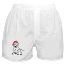 christmas dog Boxer Shorts