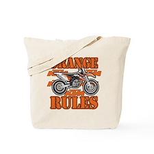 Orange Rules Tote Bag