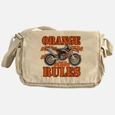 Orange Rules Messenger Bag