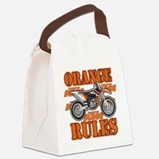 Orange Rules Canvas Lunch Bag