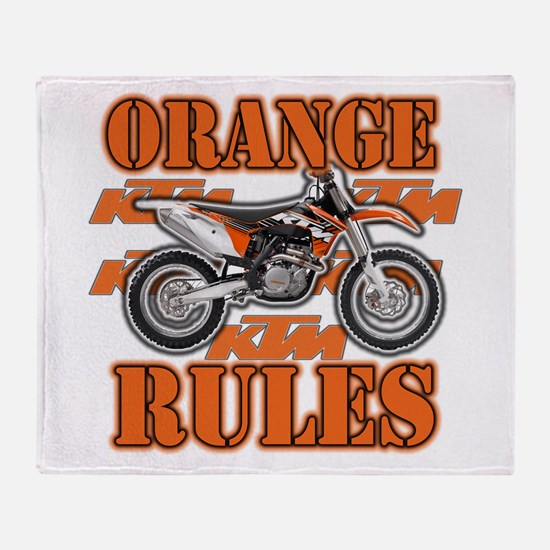 Orange Rules Throw Blanket