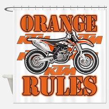 Orange Rules Shower Curtain