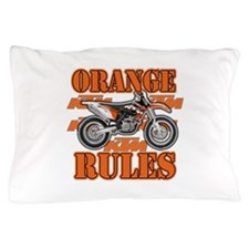 Orange Rules Pillow Case