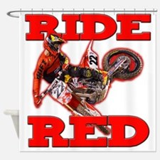 Ride Red 2013 Shower Curtain