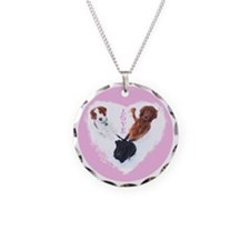 3 Dogs = Love (Pink) Necklace
