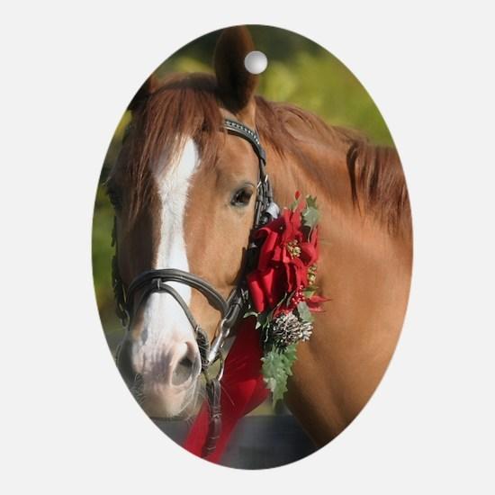 Christmas Horse Ornament (Oval)