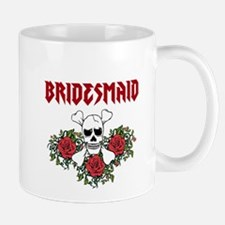 Bridesmaid Roses Skull Mugs