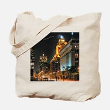 Milwaukee, Wisconsin Cityscape at Night Tote Bag