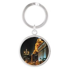Milwaukee, Wisconsin Cityscape at N Round Keychain