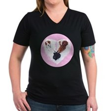 3 Dogs = Love (Pink Circle) T-Shirt