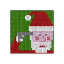 Suicidal Santa Sticker