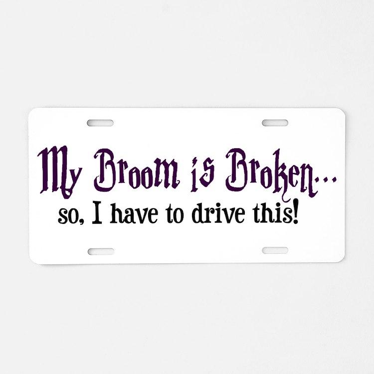 Cute Hogwart Aluminum License Plate