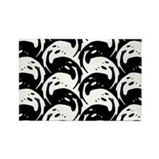 Black and White Birds by Kolo Moser Rectangle Magn