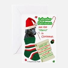 Labrador Retriever (Black) Greeting Cards (Package
