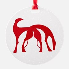 Art Deco Hounds Ornament
