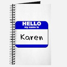 hello my name is karen Journal