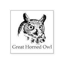 Great Horned Owl (line art) Sticker