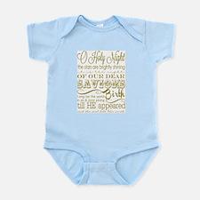 Christmas Typography Gold Infant Bodysuit
