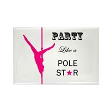 Party Like a Pole Star Pink Magnets