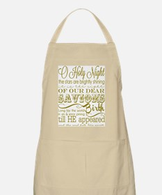 Christmas Typography Gold Apron