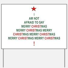 MERRY CHRISTMAS 2 Yardsign Yard Sign