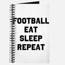 Football Eat Sleep Repeat Journal