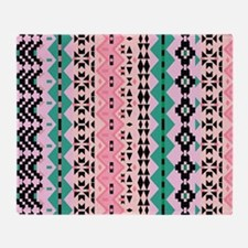 Mix #521, Pink Tribal Throw Blanket