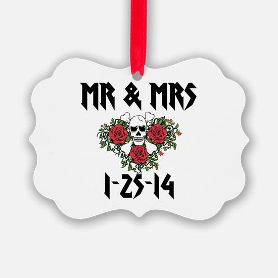 Mr Mrs Personalized dates Ornament