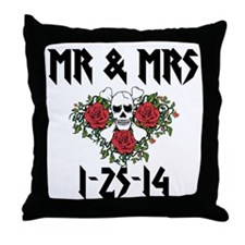 Mr Mrs Personalized dates Throw Pillow