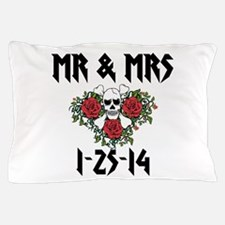 Mr Mrs Personalized dates Pillow Case