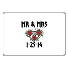 Mr Mrs Personalized dates Banner